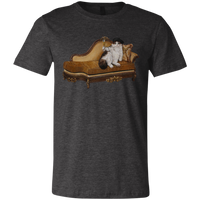 Grey Artists Unisex Cat TShirt - Cats Without Words collection from Artisticat