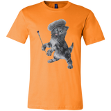 Orange  Unisex Jersey Cat TShirt - Crazy Kitten Collection from Artisticat