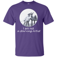 Purple Short-Sleeve Unisex Cat TShirt from Artisticat