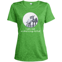 Light Green Ladies tshirt for artists from Artisticat - Schmoozle Collection