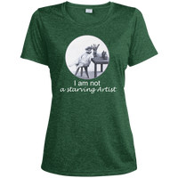 Green Ladies tshirt for artists from Artisticat - Schmoozle Collection