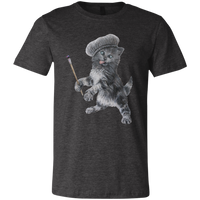 Dark Grey  Unisex Jersey Cat TShirt - Crazy Kitten Collection from Artisticat
