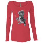 Ladies' Triblend LS Scoop - Crazy Kitten Collection
