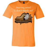 Orange Short-Sleeve Unisex Cat TShirt from Artisticat