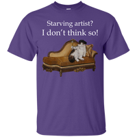 Purple Short-Sleeve Unisex Cat TShirt - Schmoozle collection from Artisticat