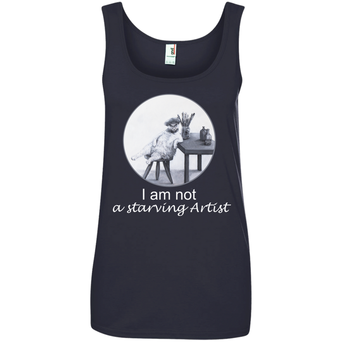 Dark Grey Ladies' Cat Tank for Artists - Original collection from Artisticat