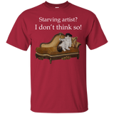 Red Short-Sleeve Unisex Cat TShirt - Schmoozle collection from Artisticat