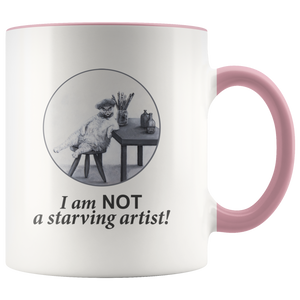 The Abundant Artist Mug With Accent Colour - various colours