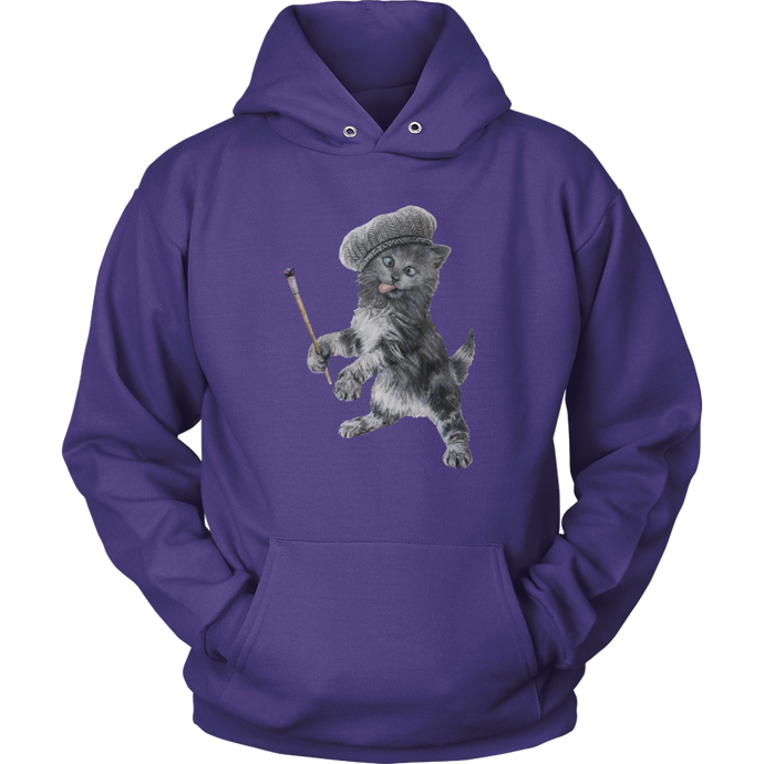 Crazy Cat Hoodie - various colours