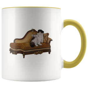 Aristocat Mug With Accent Colour - various colours
