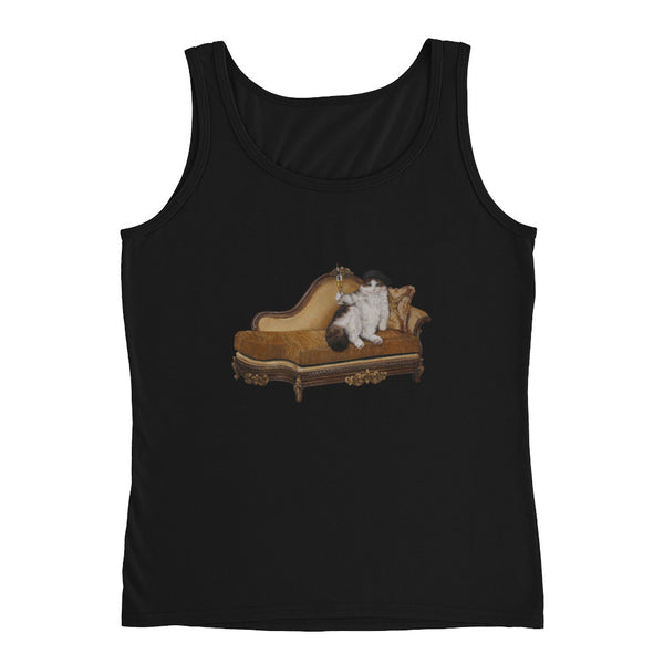 Ladies' Cat Tank - Cats Without Words collection from Artisticat