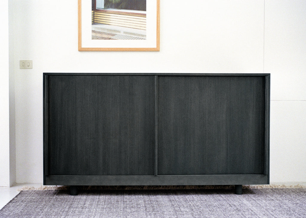 Sideboard with Sliding Doors (Forest Green)
