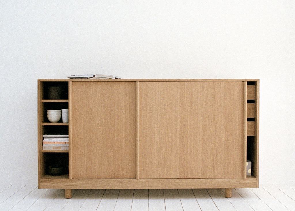 Sideboard with Sliding Doors (Natural Oak)