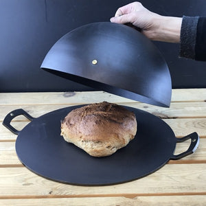 Spun Iron Baking Bell with 12 inch Griddle / Baking plate