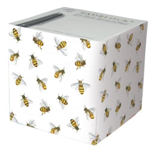 Honey Bees Pattern Paper Notecube - Made in Britain - BRIT LOCKER