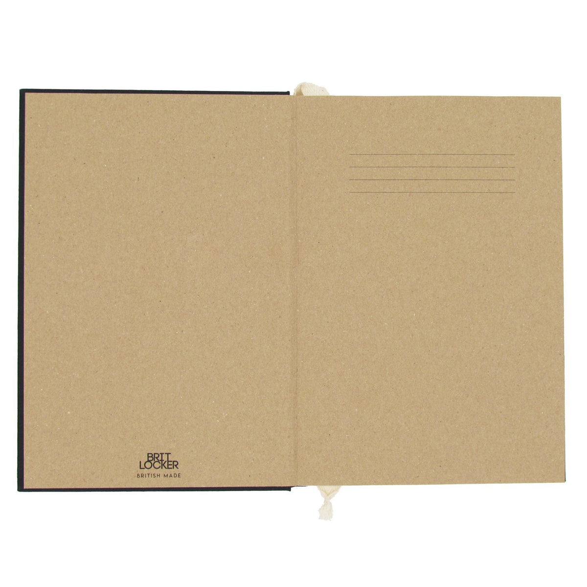 Harmony Eco-Friendly Notebook Open - Black - Made in Britain - BRIT LOCKER