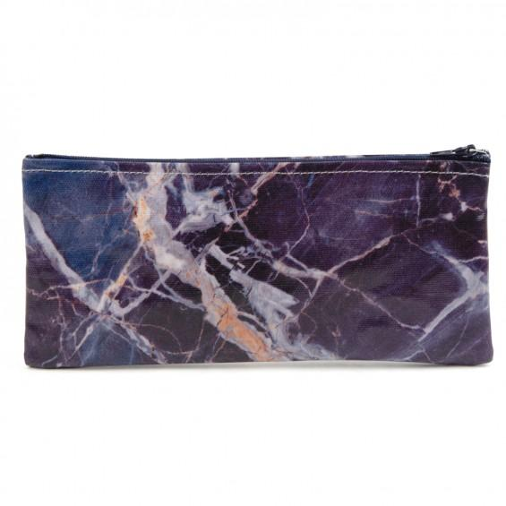 Blue Marble Pencil Case - BRIT LOCKER