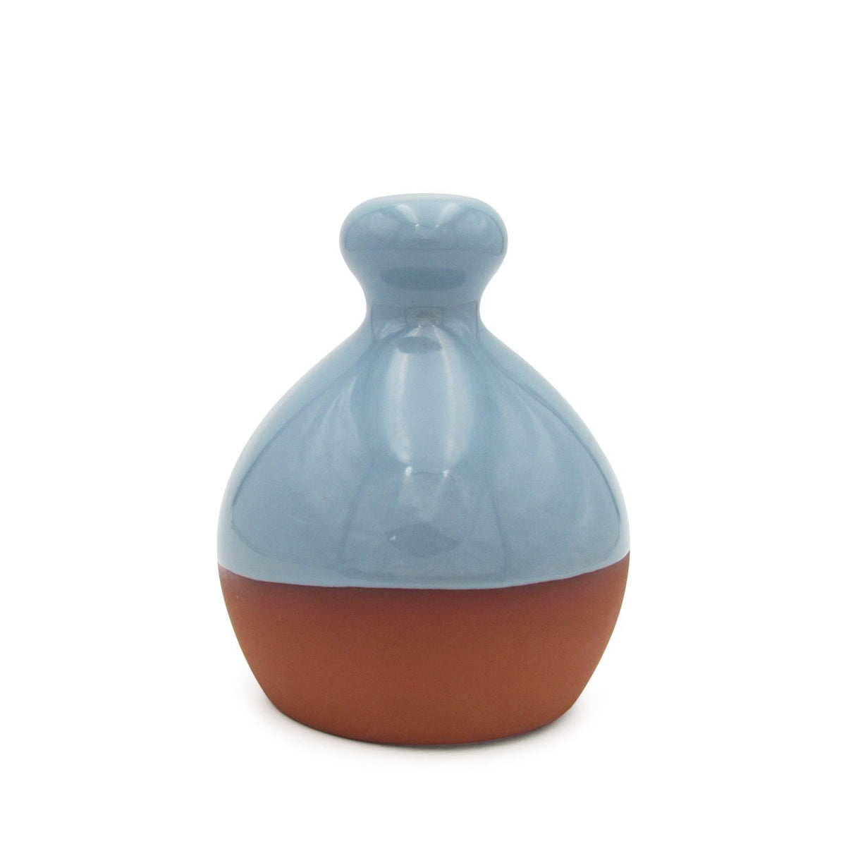 Salt Piglet - Blue Glaze Terracotta