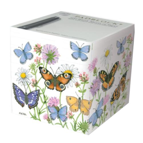 Butterfly Garden Paper Notecube Padblock - Made in England - BRIT LOCKER