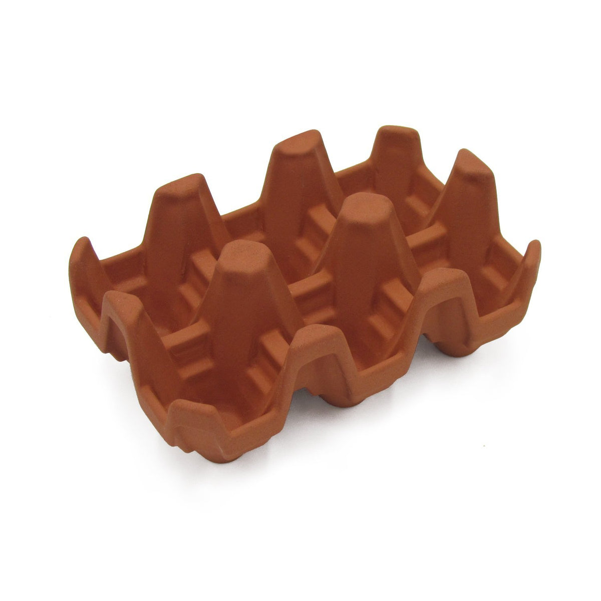 Terracotta 6 egg holder - Natural