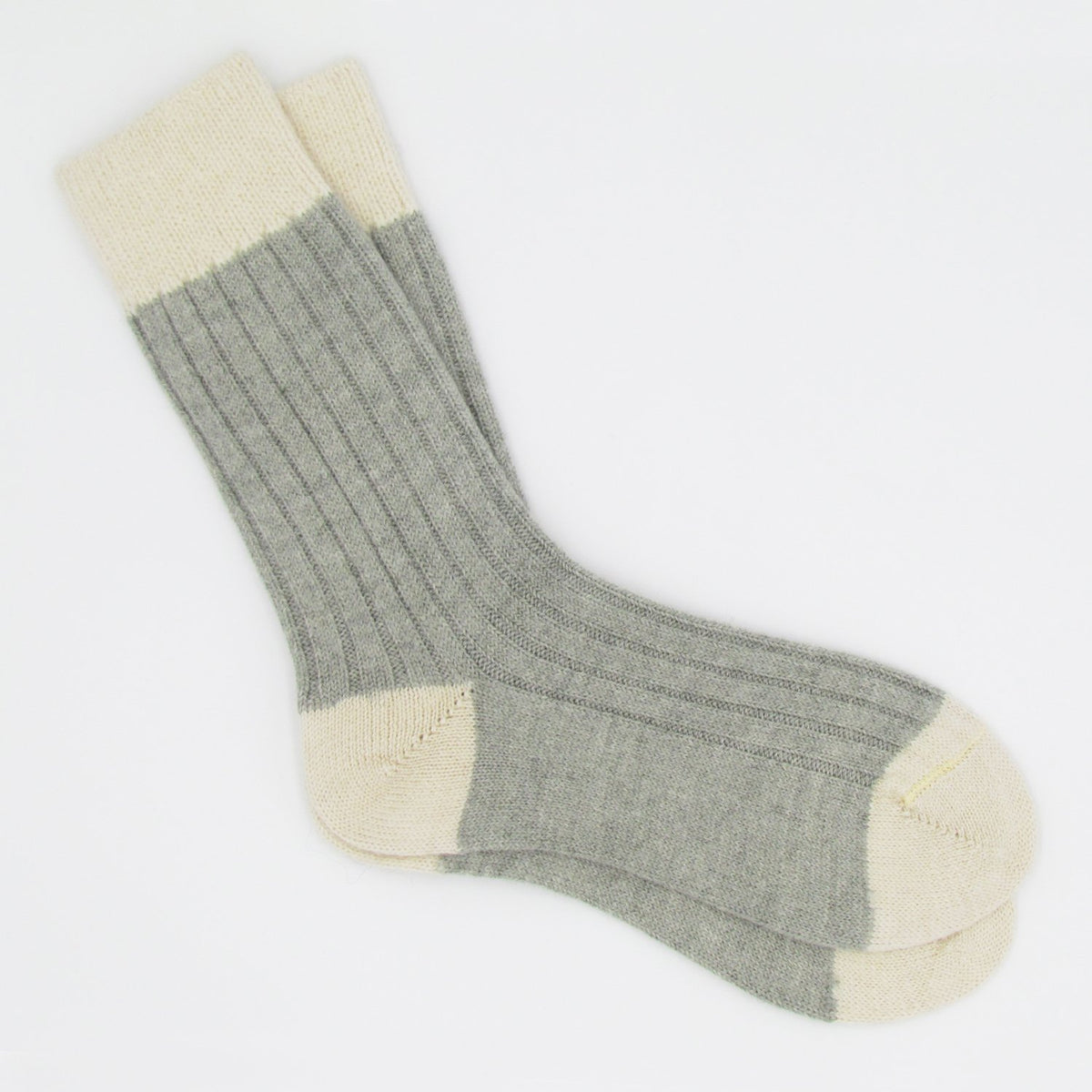 Pair of Alpaca Bed Socks - Gooseberry