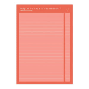 Things To Do List A6 Memo Notepad