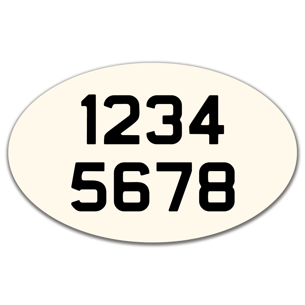 "Custom Enamel Large Oval Sign (11 ¾ x 7"")"