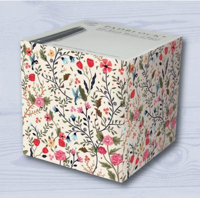 Little Flowers Pattern Paper Notecube - BRIT LOCKER