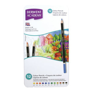 Derwent Academy Colouring pencils 12 Tin