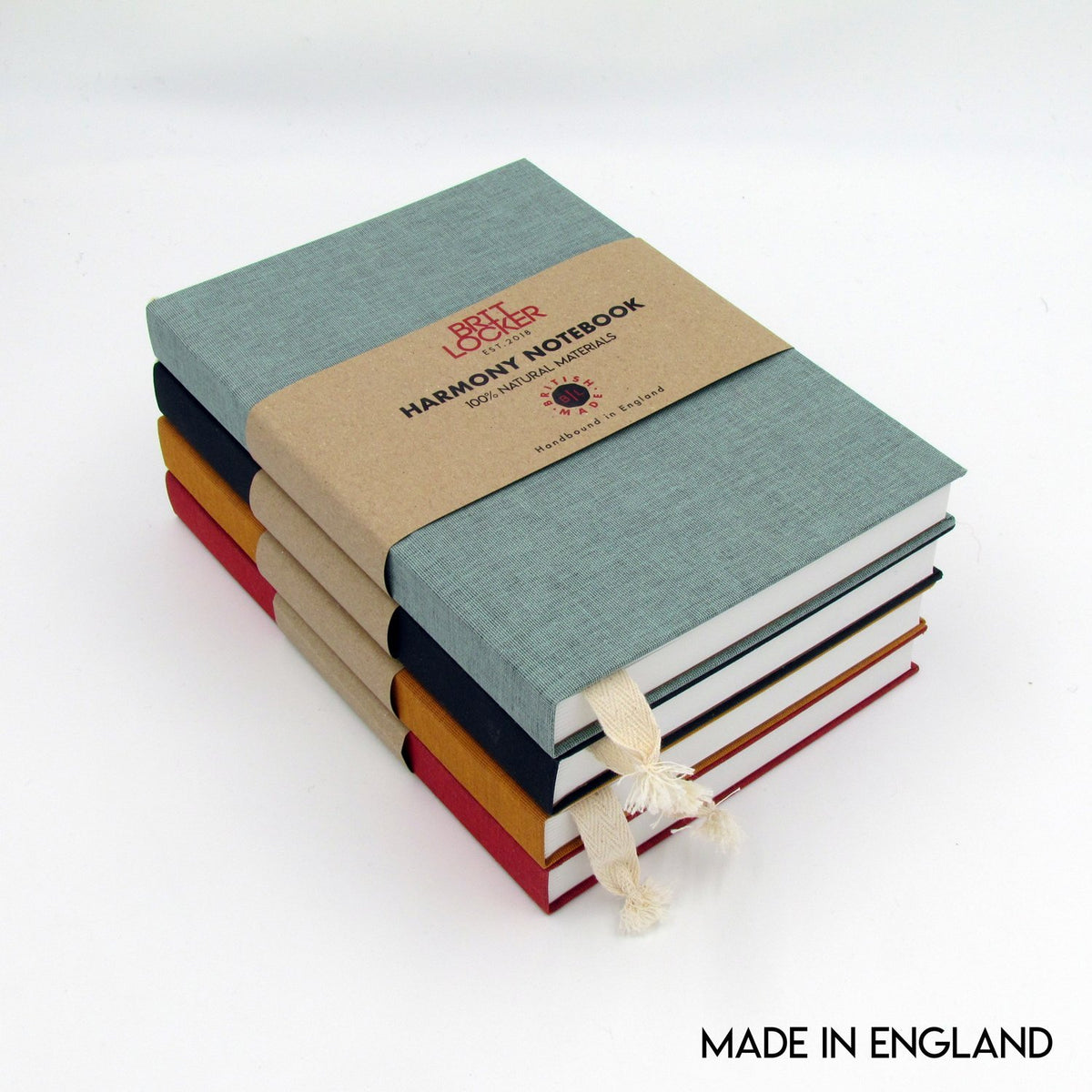 Harmony Eco-Friendly Notebooks - Black - Made in Britain - BRIT LOCKER