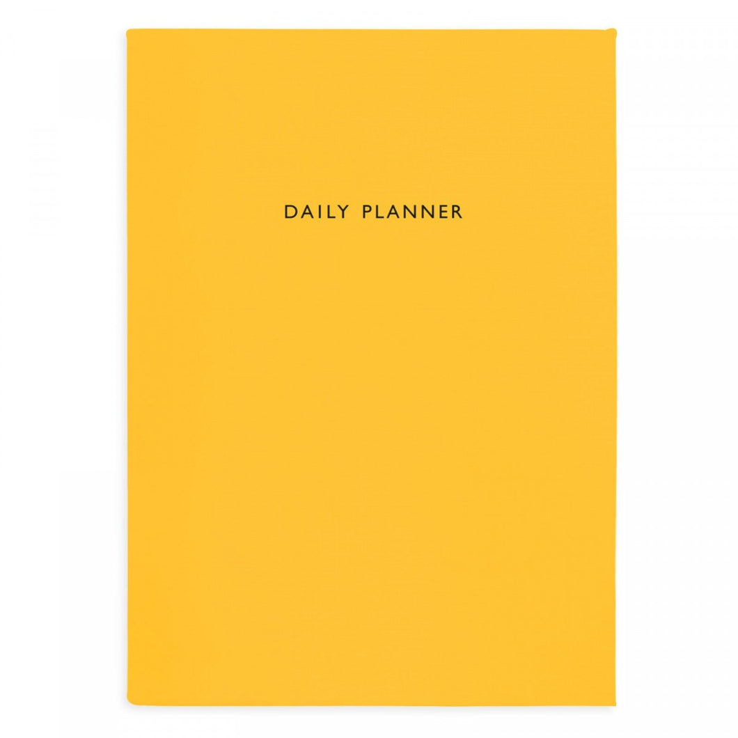 Neon Amber Linen Daily Planner