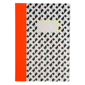 Optical Geo A4 Quarter-bound Notebook