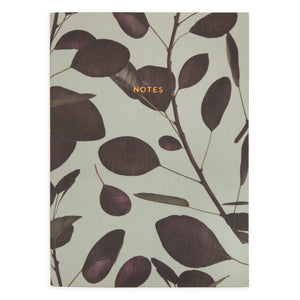 Rubber Plant Linen Notebook / Planner