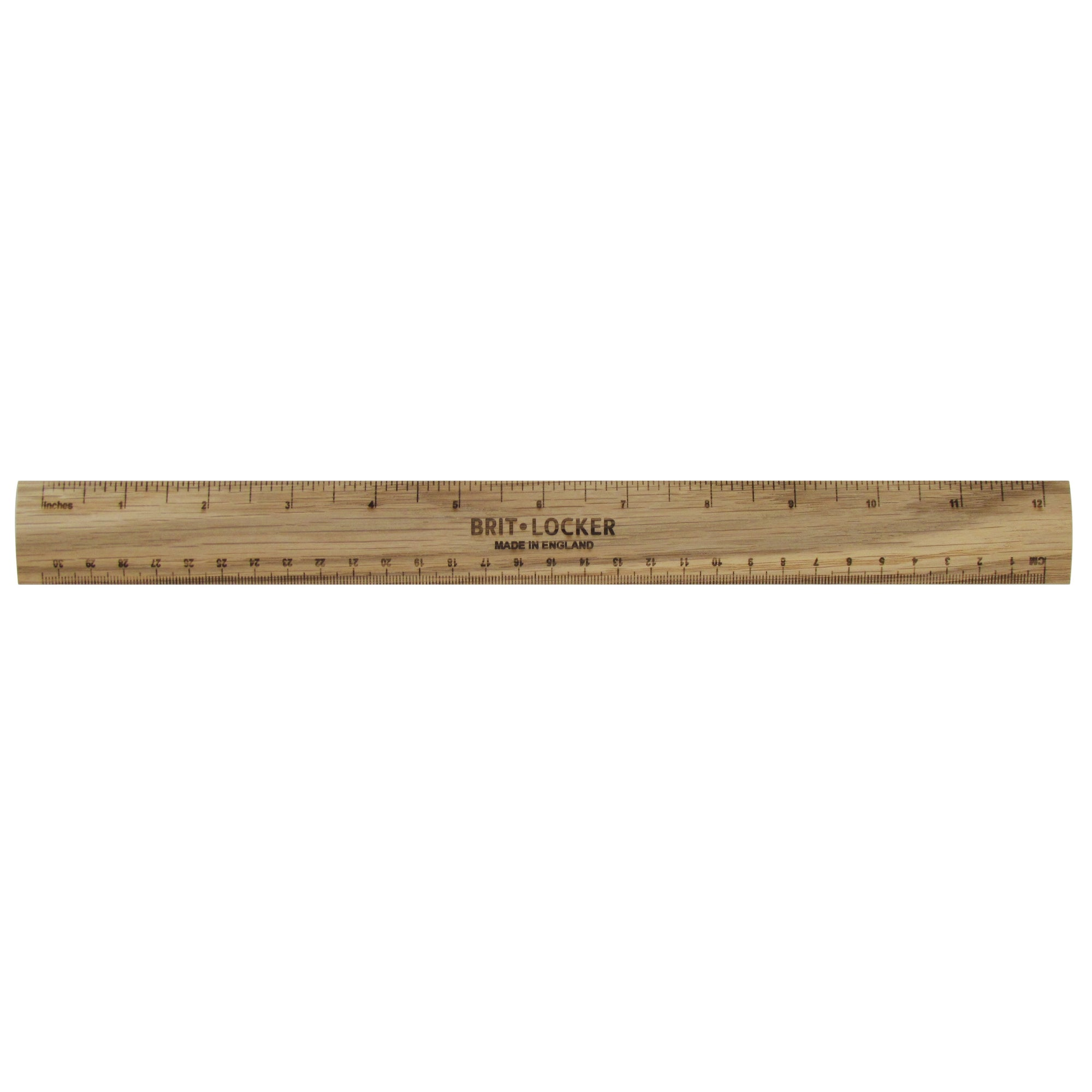 Wooden Oak Ruler - Made in Britain - BRIT LOCKER