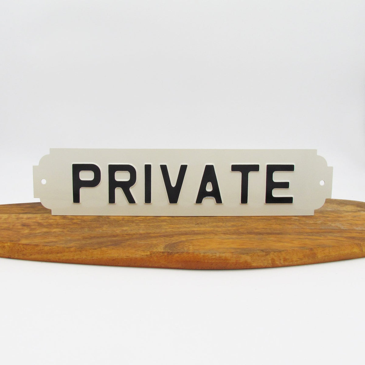 Private Enamel Sign