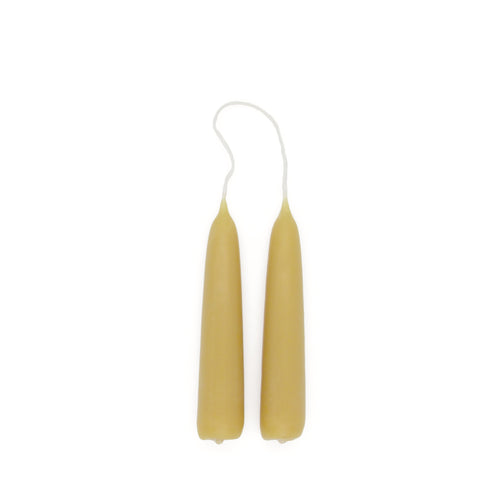 Pure Beeswax Small Standard Candles (Pair)