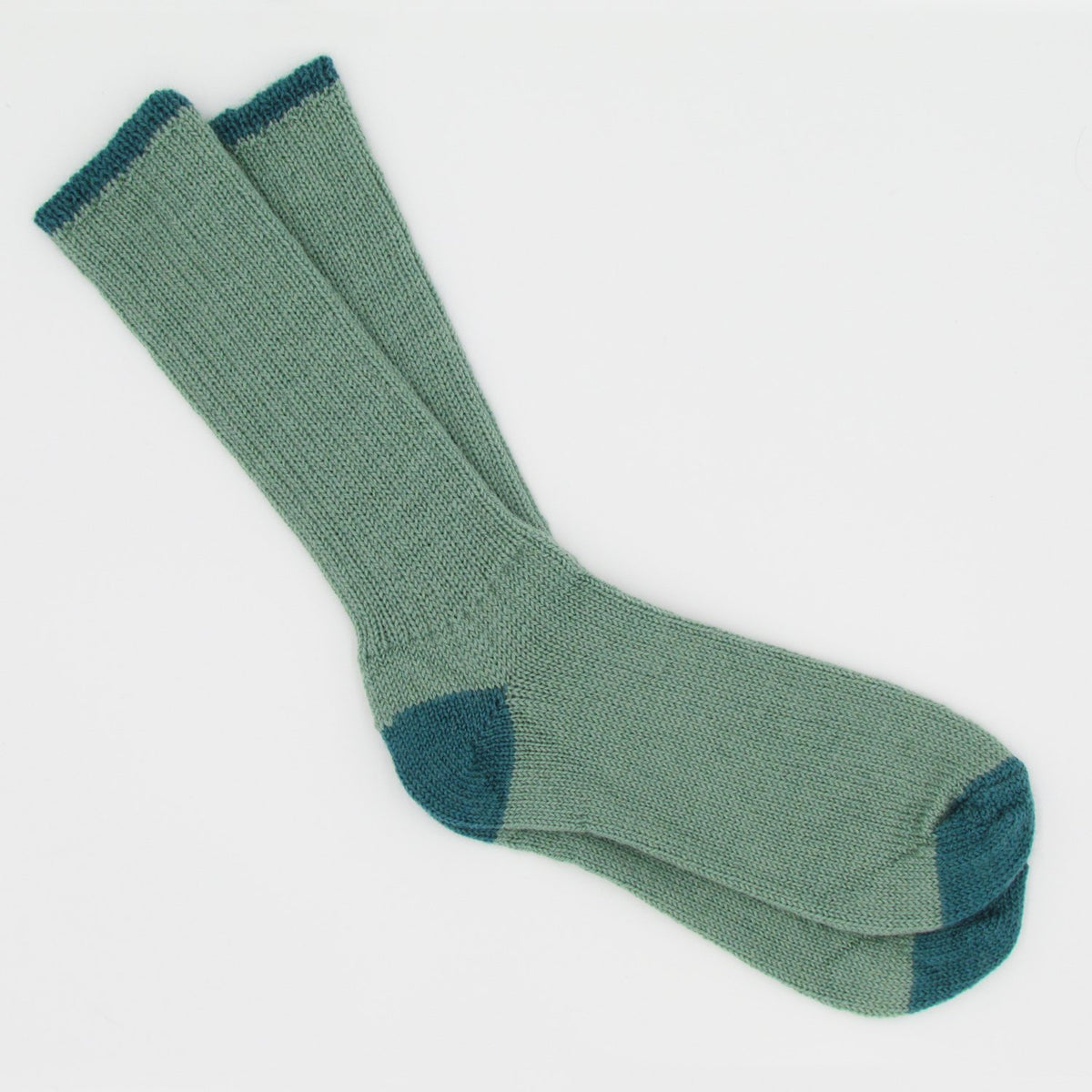 Soft Wool Socks - Jade/Aqua