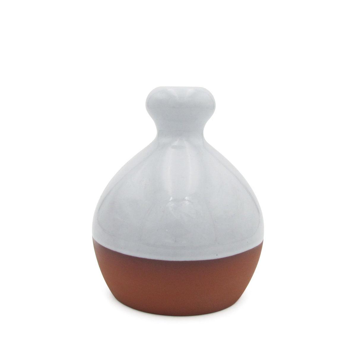 Salt Piglet - White Glaze Terracotta