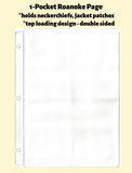 1-Pocket Roanoke Double Sided White Vinyl Page (top loading) - Best hobby pages