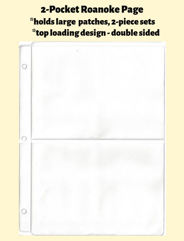 2-Pocket Roanoke Double Sided White Vinyl Page (top loading) - Best hobby pages