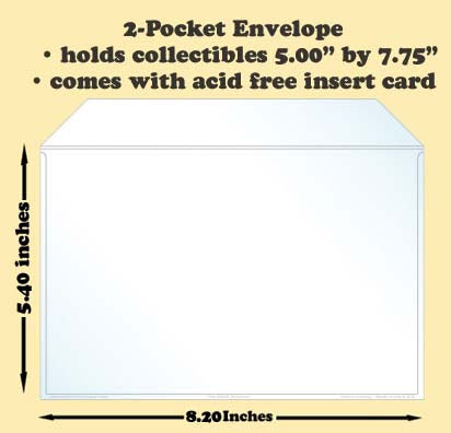 2-Pocket Polypropylene Archival Envelope (card included) - Best hobby pages