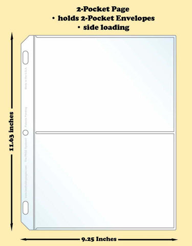 2-Pocket Traditional Polypropylene Archival Page (side loading) - Best hobby pages