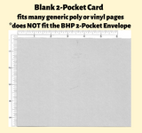 Blank Cards For 2-Pocket Pack of 25