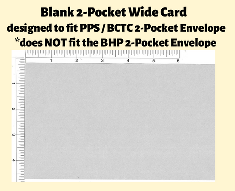Blank Cards For 2-Pocket Wide Pack of 25