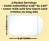 4-Pocket Polypropylene Archival Envelope (long side card included) - Best hobby pages