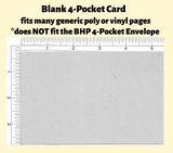 Blank Cards For 4-Pocket Pack of 25
