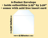 6-Pocket Polypropylene Archival Envelope (card included) - Best hobby pages