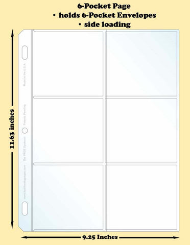 6-Pocket Traditional Polypropylene Archival Page (side loading) - Best hobby pages