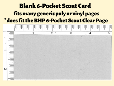 Blank Cards For 6-Pocket Scout Pack of 25