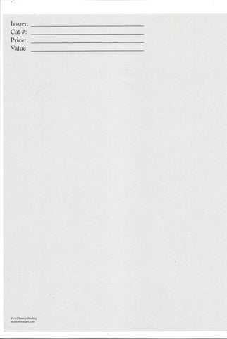 Replacement Cards For 1-Pocket Envelope Pack of 25 - Best hobby pages
